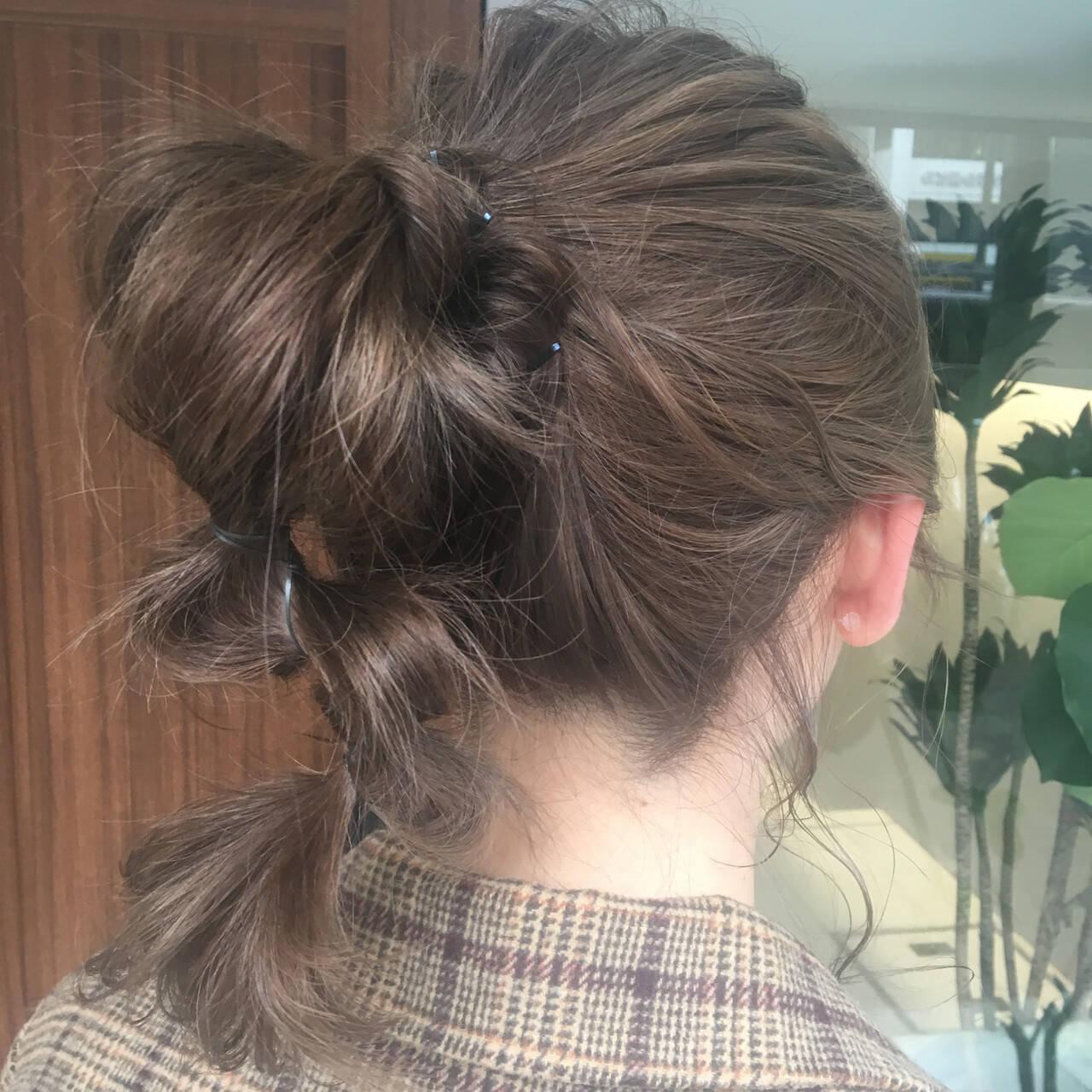 ヘアアレンジ ミディアム ガーリー ふわふわヘアアレンジヘアスタイルや髪型の写真・画像