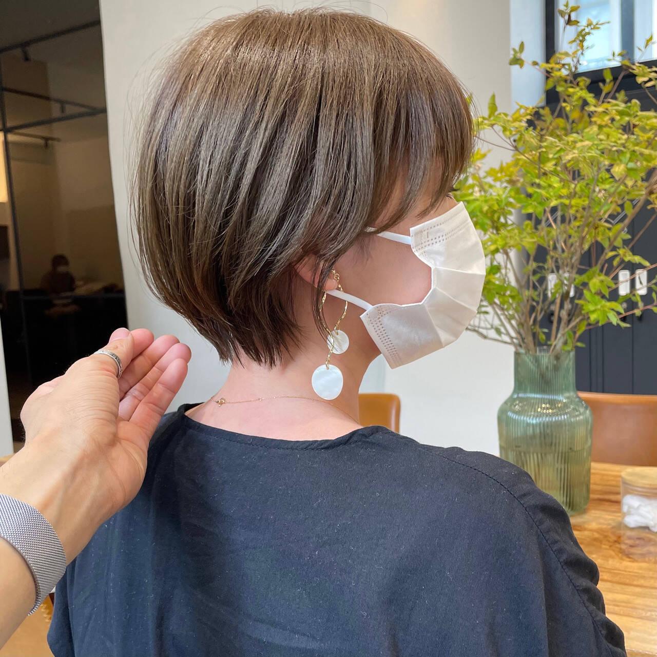 ショートヘア ナチュラル ベリーショート ミニボブヘアスタイルや髪型の写真・画像