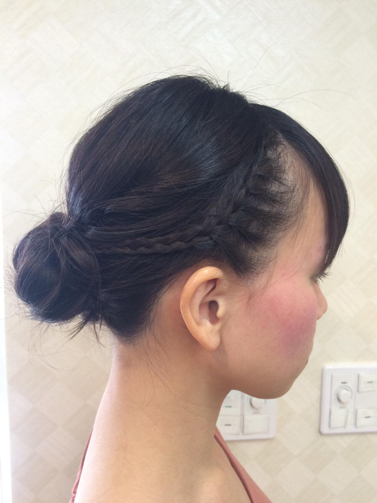 謝恩会 まとめ髪 簡単ヘアアレンジ ボブヘアスタイルや髪型の写真・画像