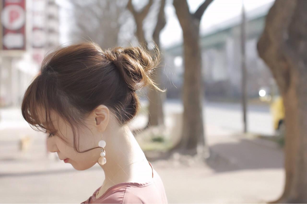 簡単ヘアアレンジ ゆるふわ モテ髪 かわいいヘアスタイルや髪型の写真・画像