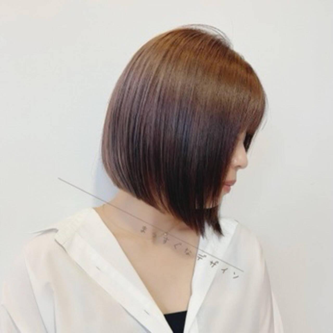 ショートボブ 大人かわいい ショートヘア ボブヘアスタイルや髪型の写真・画像