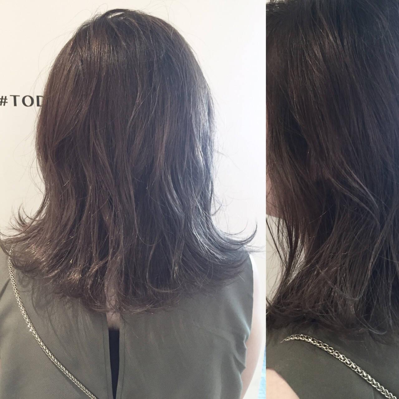 ボブ アッシュ マット ストリートヘアスタイルや髪型の写真・画像