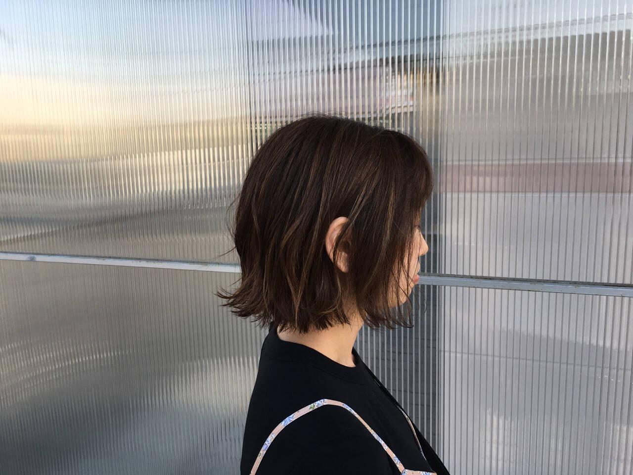 透明感 色気 ボブ 外ハネヘアスタイルや髪型の写真・画像