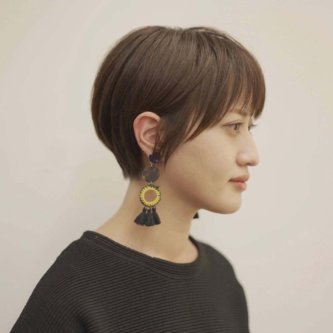 ショートボブ 30代 20代 ショートヘアヘアスタイルや髪型の写真・画像