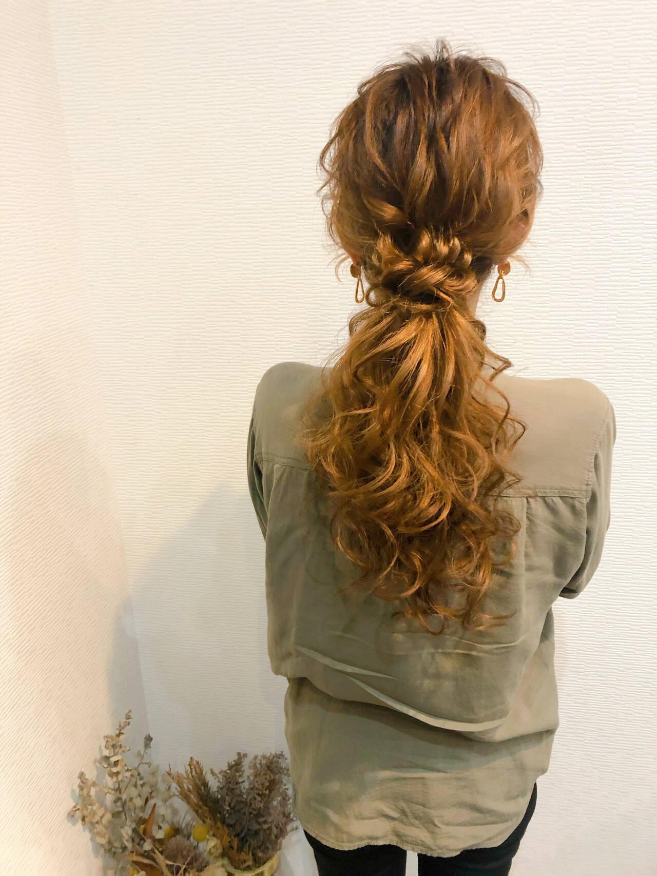 ローポニー ポニーテール ポニーテールアレンジ ヘアセットヘアスタイルや髪型の写真・画像