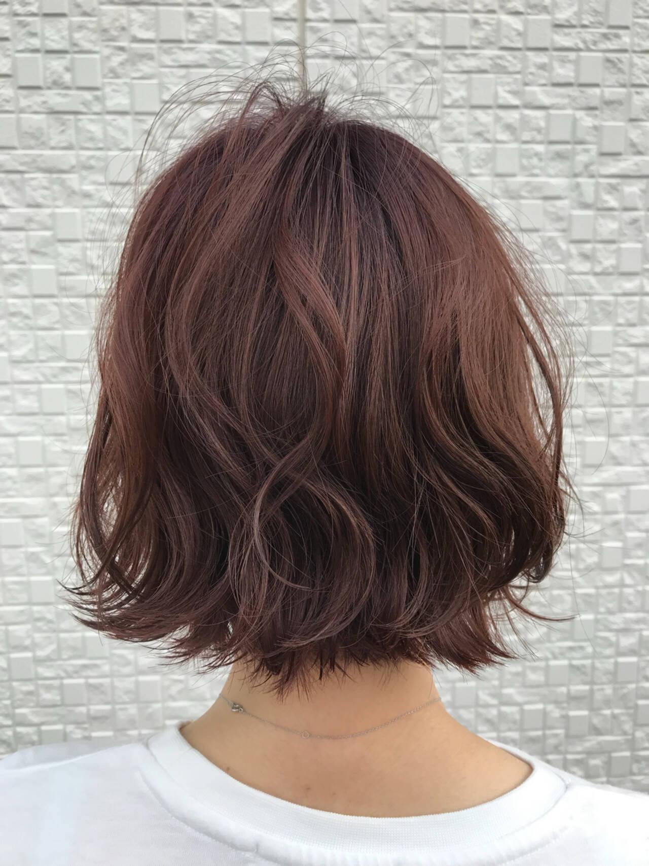 ピンク レッド 外国人風 グラデーションカラーヘアスタイルや髪型の写真・画像