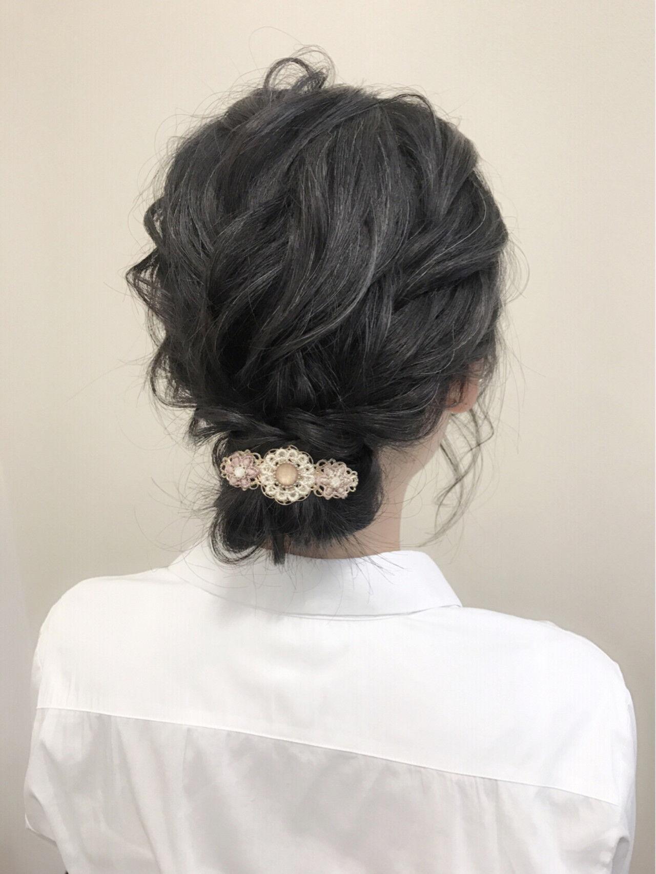 大人かわいい ヘアアレンジ 大人女子 シニヨンヘアスタイルや髪型の写真・画像