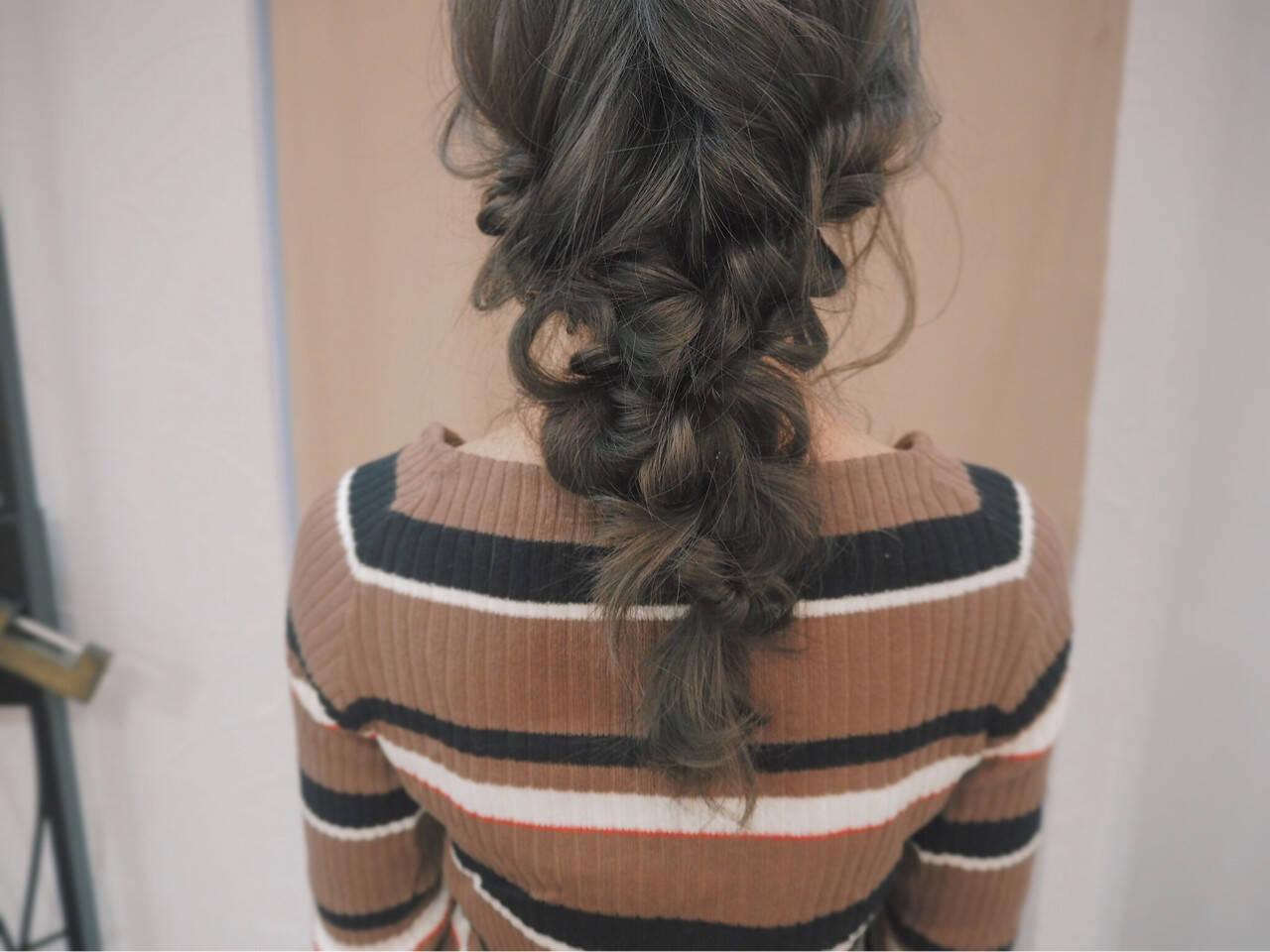 簡単ヘアアレンジ 編み込み ヘアアレンジ 透明感ヘアスタイルや髪型の写真・画像