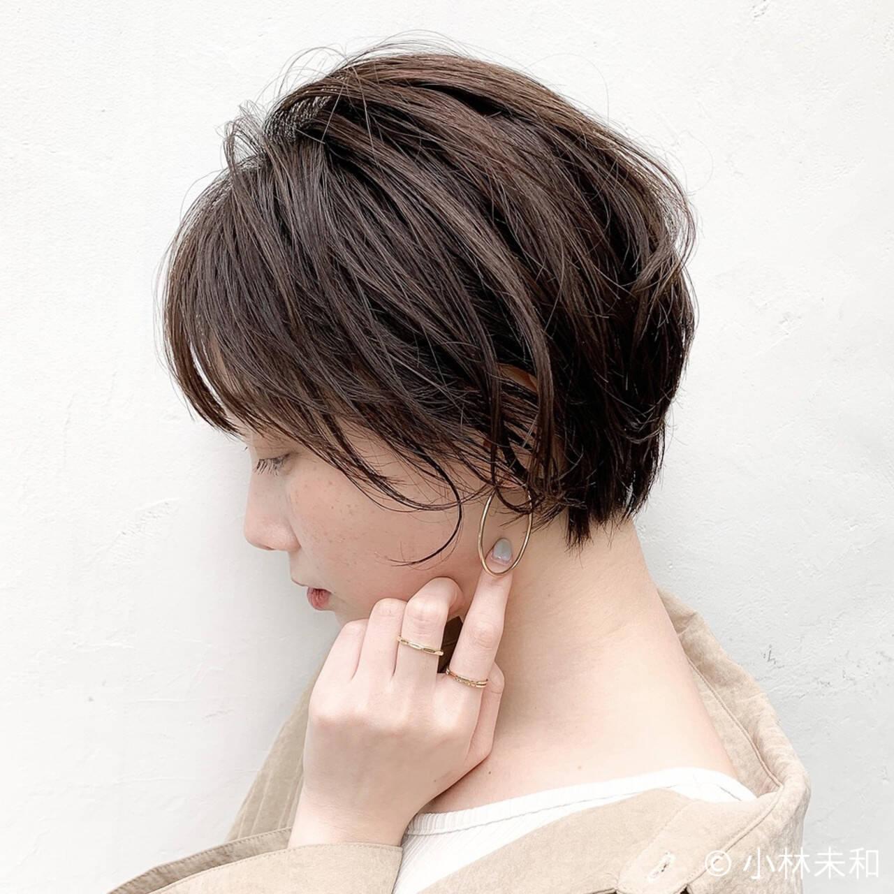 オーガニックカラー ショコラブラウン ナチュラル 大人女子ヘアスタイルや髪型の写真・画像