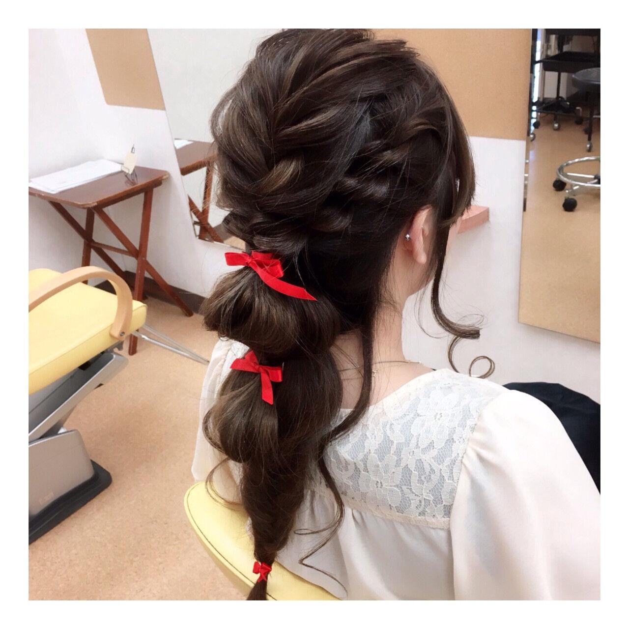 ヘアアレンジ 編み込み 結婚式 無造作ヘアスタイルや髪型の写真・画像