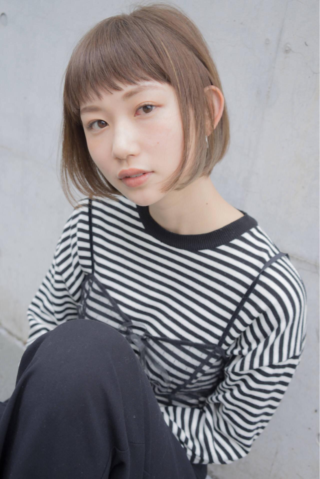 ストリート インナーカラー ワンカール ハイライトヘアスタイルや髪型の写真・画像