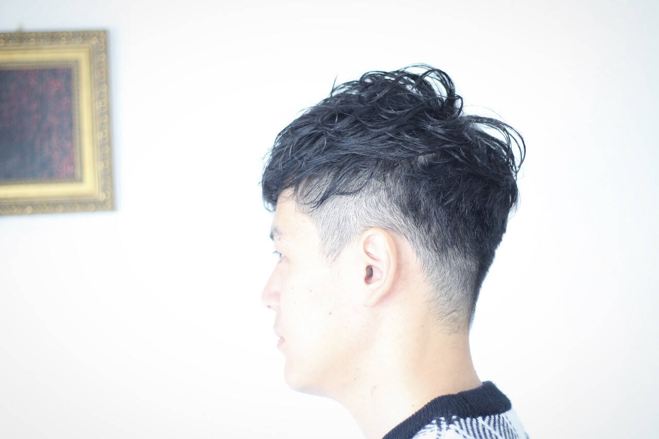 ナチュラル ショート メンズカット メンズパーマヘアスタイルや髪型の写真・画像