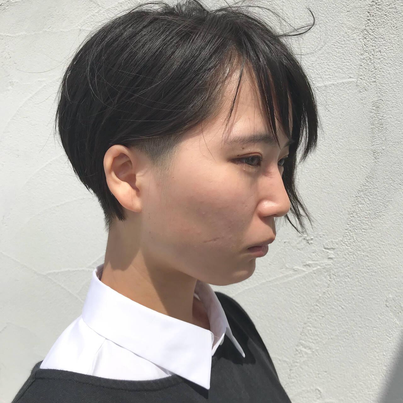 ショートボブ ショート 刈り上げ 刈り上げ女子ヘアスタイルや髪型の写真・画像