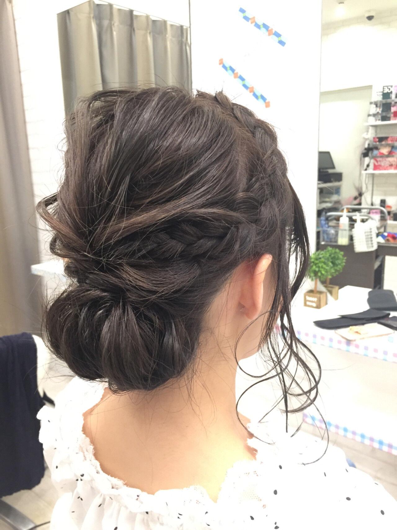 成人式 パーティ ボブ ヘアアレンジヘアスタイルや髪型の写真・画像