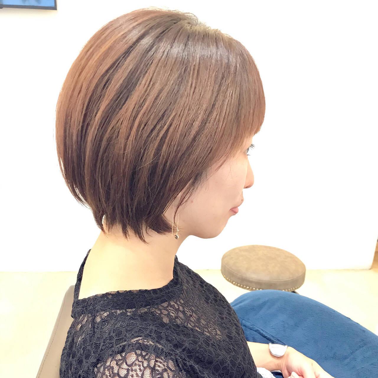 ナチュラル 小顔ショート ショートヘア ショートヘアスタイルや髪型の写真・画像