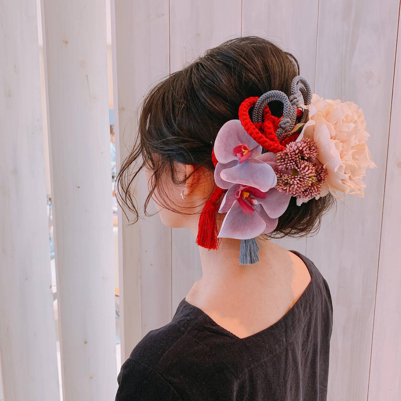 卒業式 ヘアアレンジ ミディアム 結婚式ヘアアレンジヘアスタイルや髪型の写真・画像