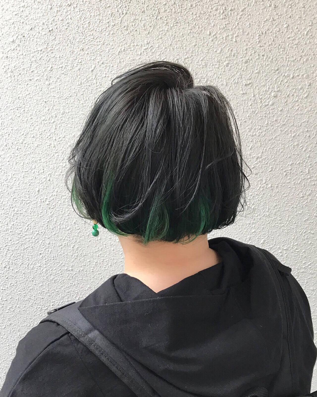 ブリーチ カラーバター ダブルカラー モードヘアスタイルや髪型の写真・画像