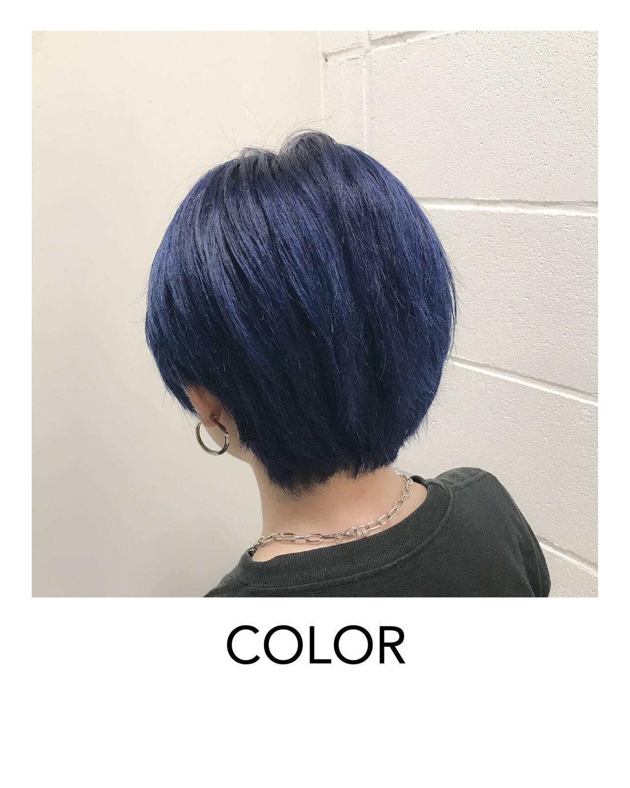 モード ハイトーンカラー ヘアカット ブリーチオンカラーヘアスタイルや髪型の写真・画像