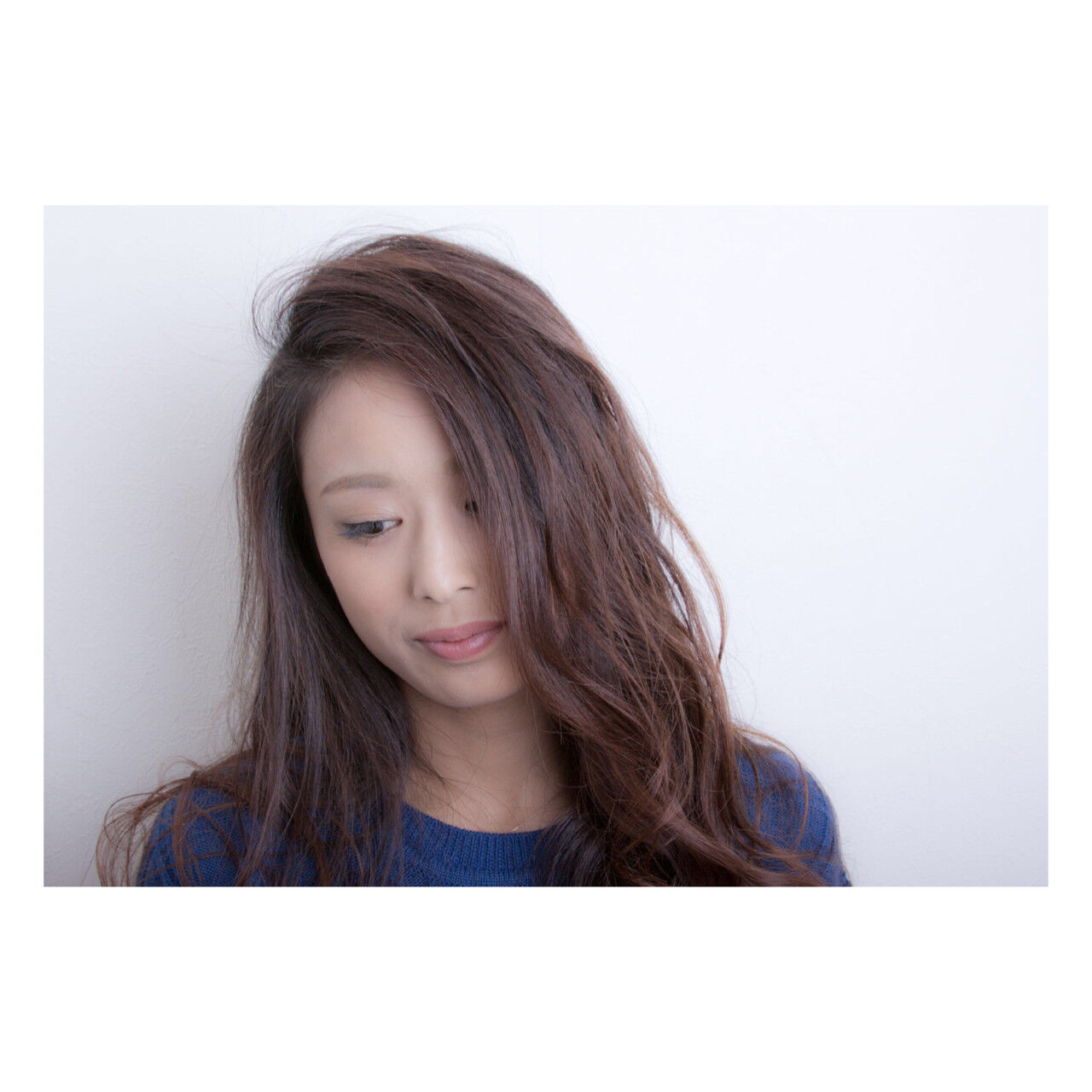 外国人風 アッシュ 大人女子 ロングヘアスタイルや髪型の写真・画像