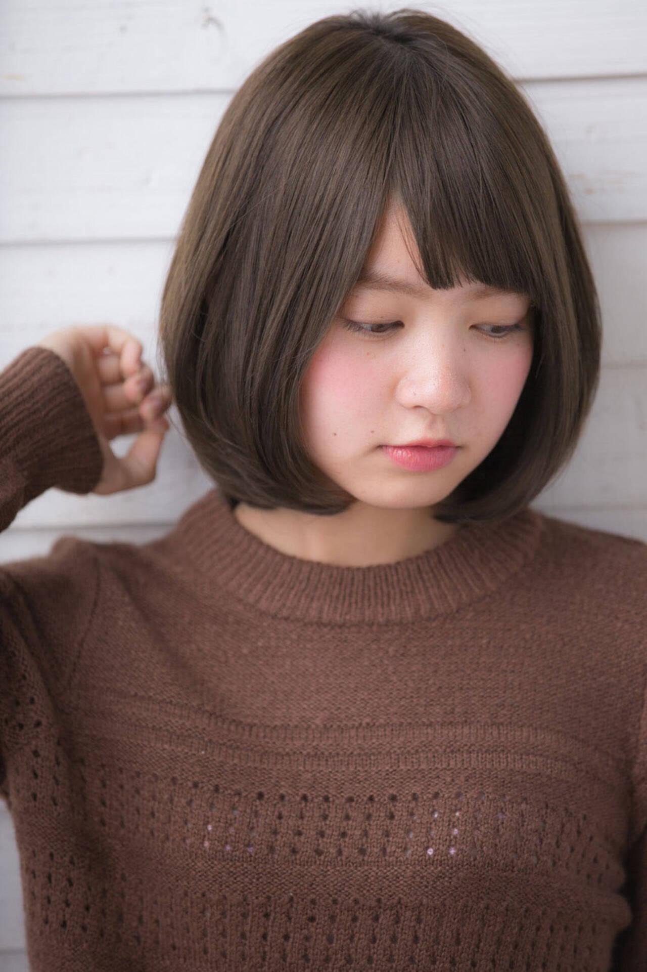 色気 ニュアンス アッシュ 前髪ありヘアスタイルや髪型の写真・画像