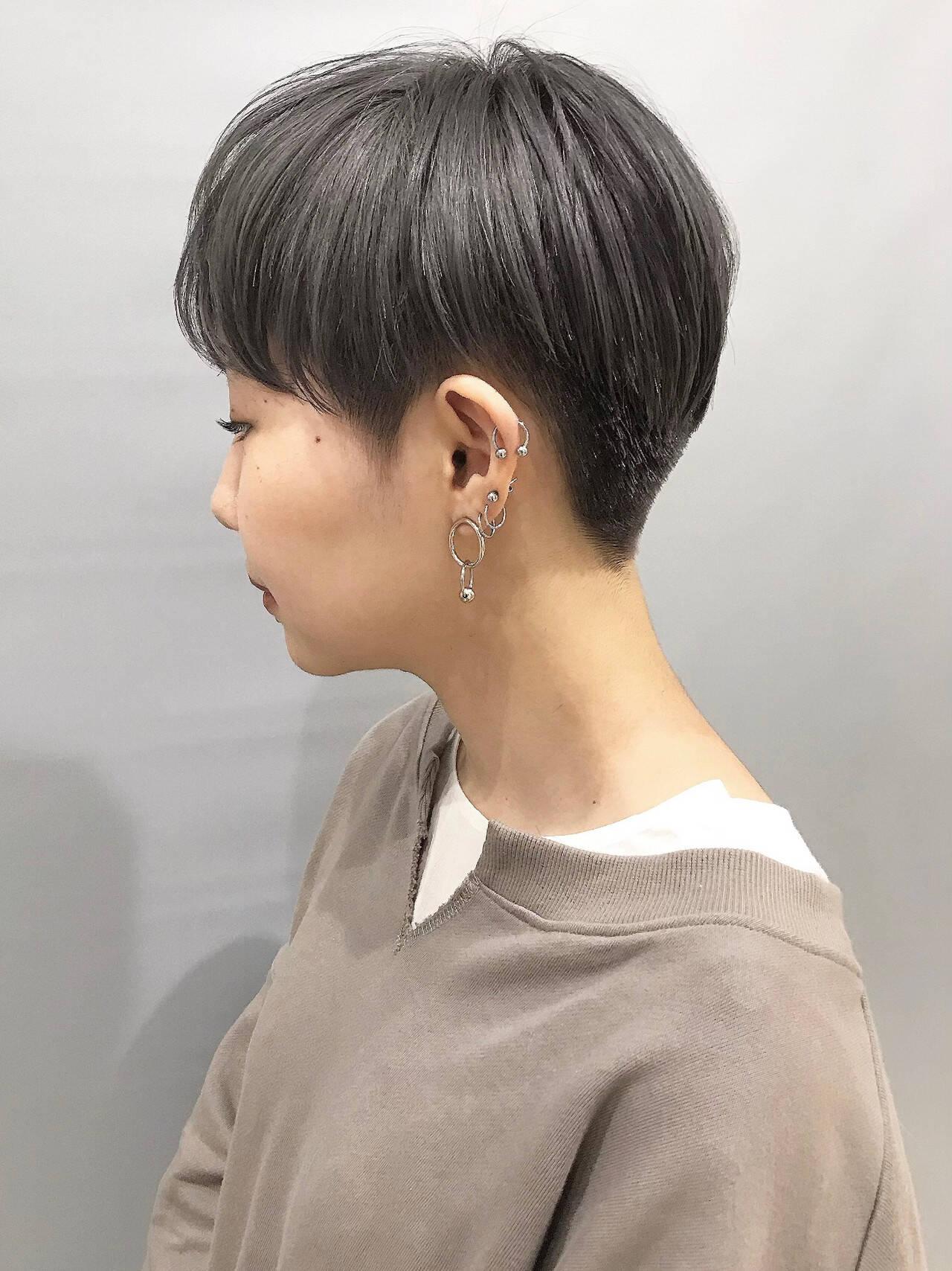 ベリーショート モード 刈り上げショート ショートヘアヘアスタイルや髪型の写真・画像