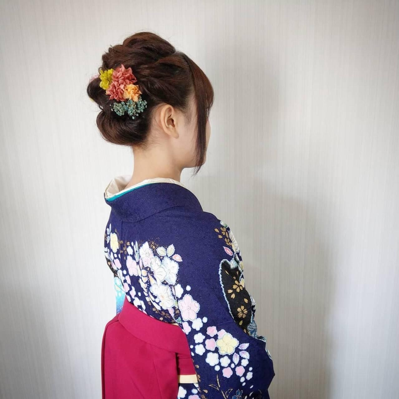 結婚式 フェミニン パーマ 成人式ヘアスタイルや髪型の写真・画像