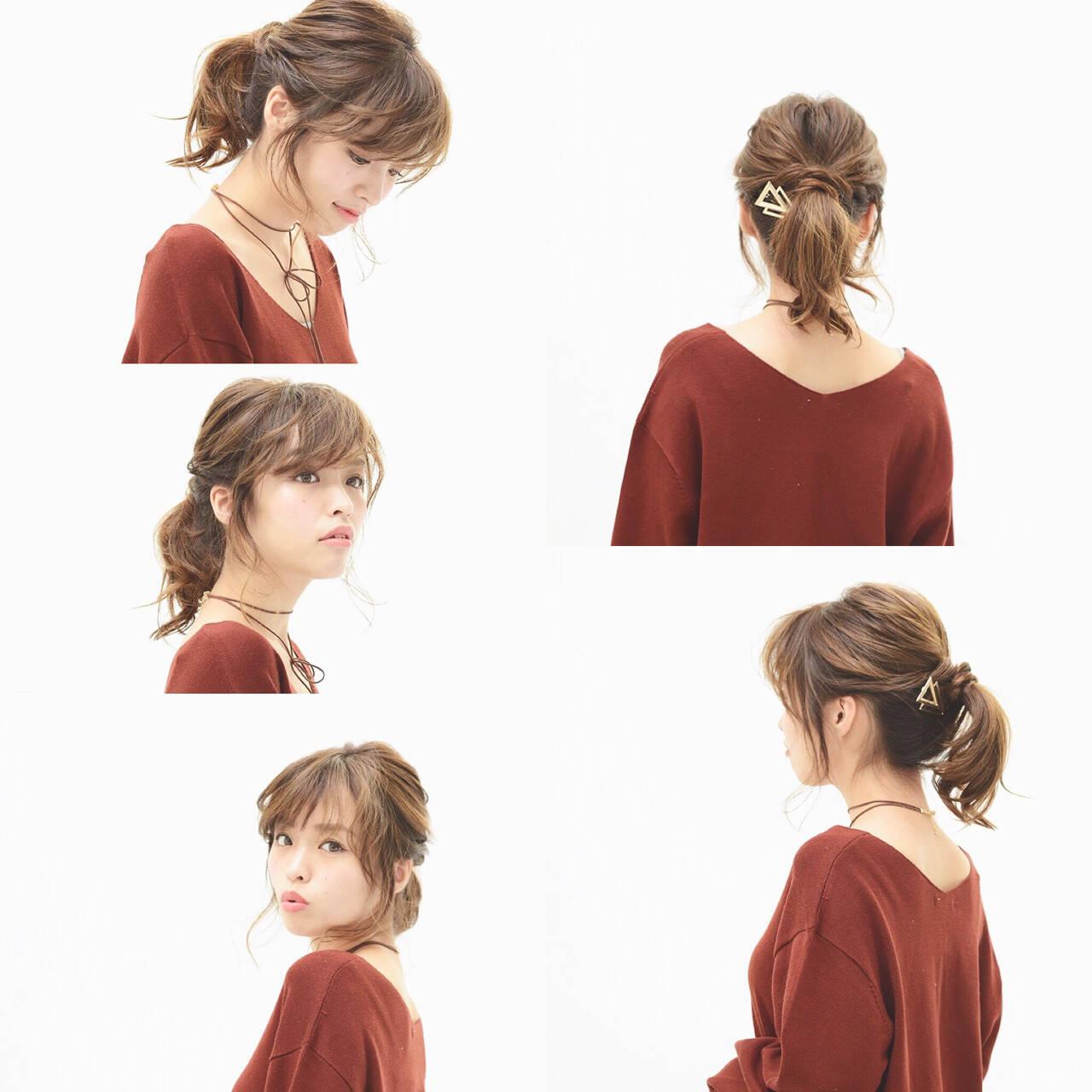 ナチュラル ヘアアレンジ 簡単ヘアアレンジ ゆるふわヘアスタイルや髪型の写真・画像