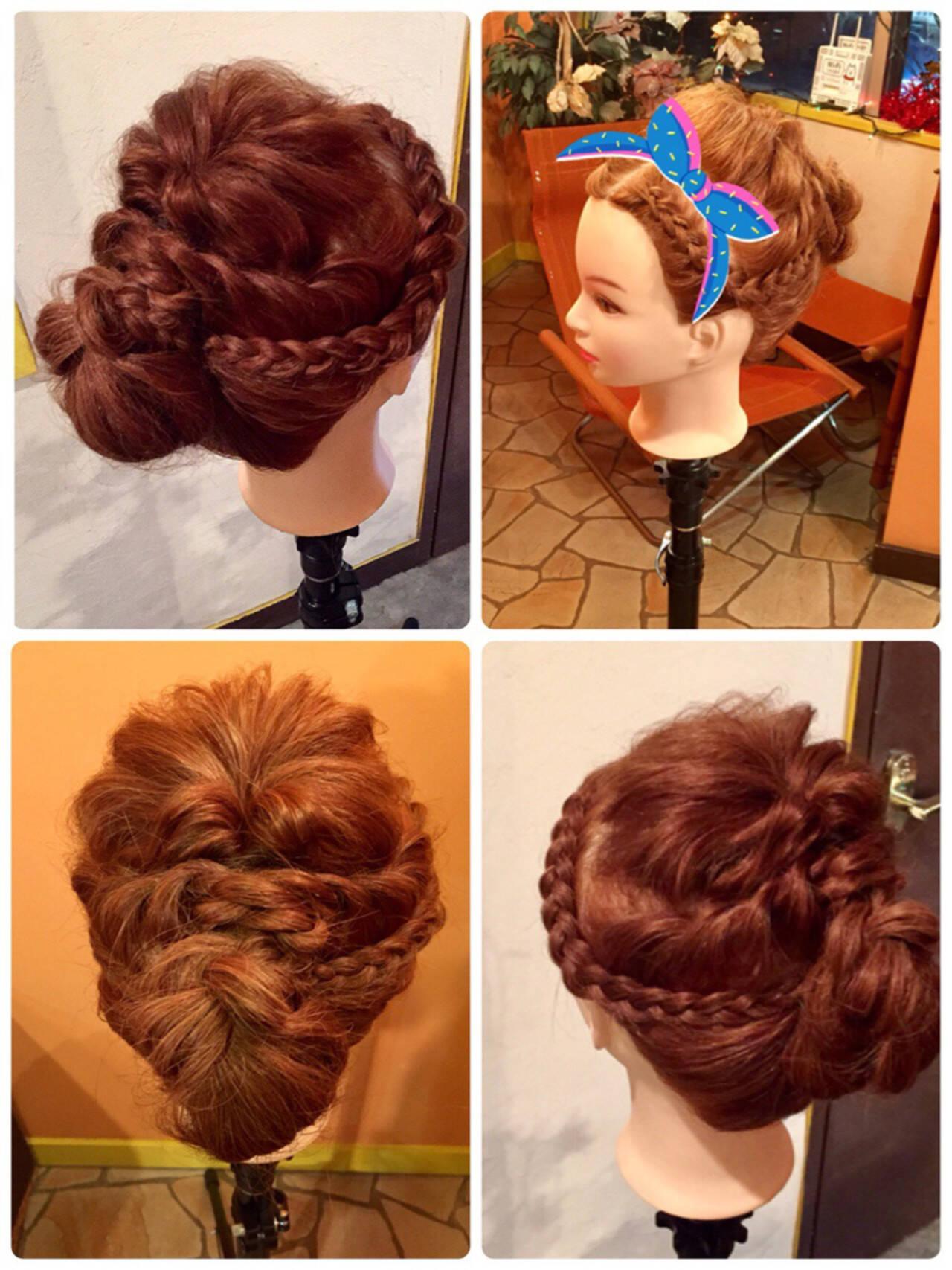 大人かわいい ヘアアレンジ 簡単 セミロングヘアスタイルや髪型の写真・画像