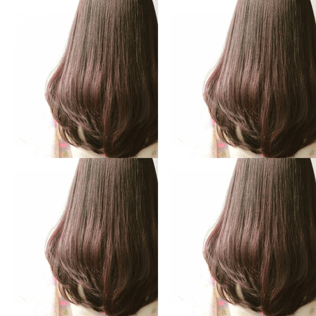 暗髪 外国人風 ナチュラル ロングヘアスタイルや髪型の写真・画像
