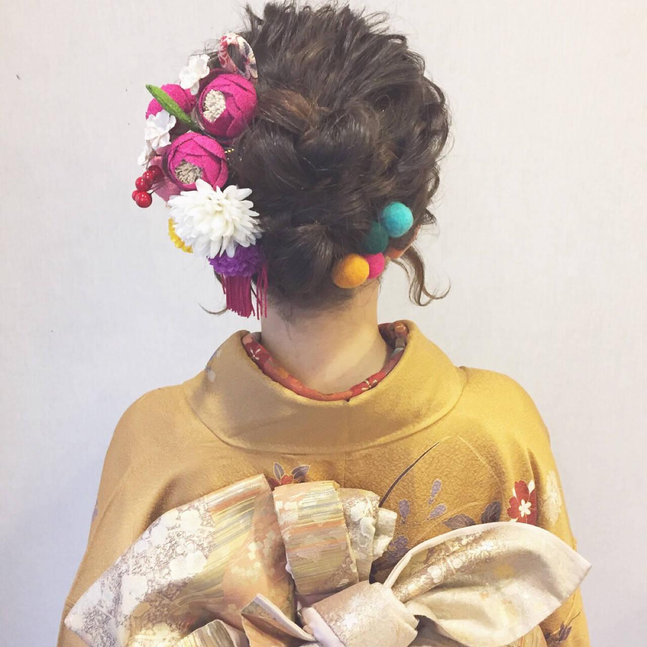 謝恩会 結婚式 成人式 ヘアアレンジヘアスタイルや髪型の写真・画像