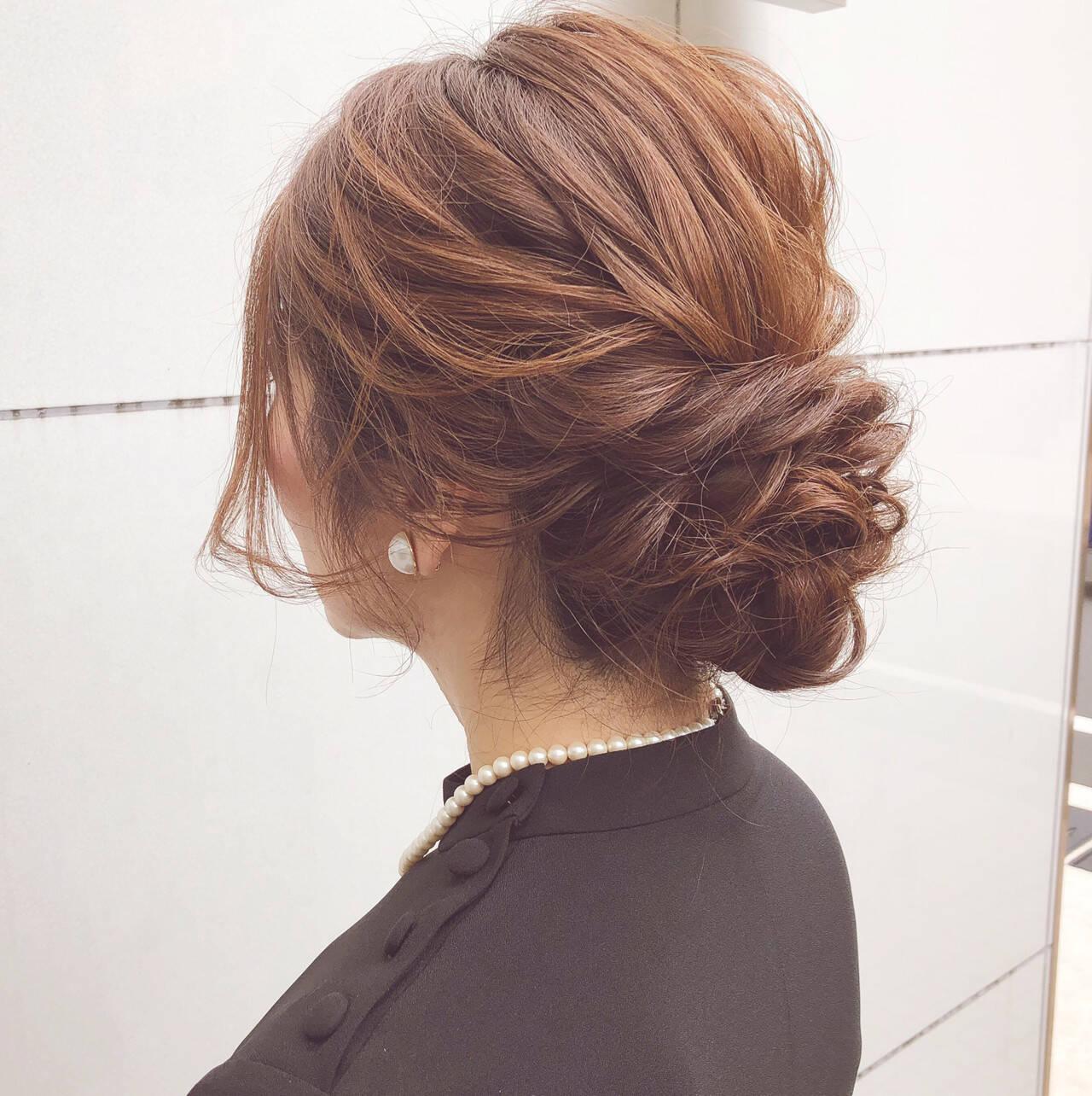 結婚式 ボブ 簡単ヘアアレンジ アンニュイほつれヘアヘアスタイルや髪型の写真・画像