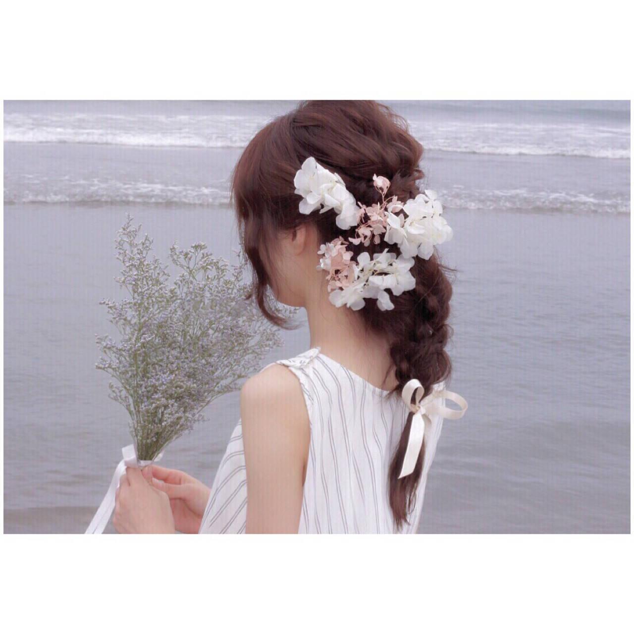 色気 フェミニン セミロング 簡単ヘアアレンジヘアスタイルや髪型の写真・画像