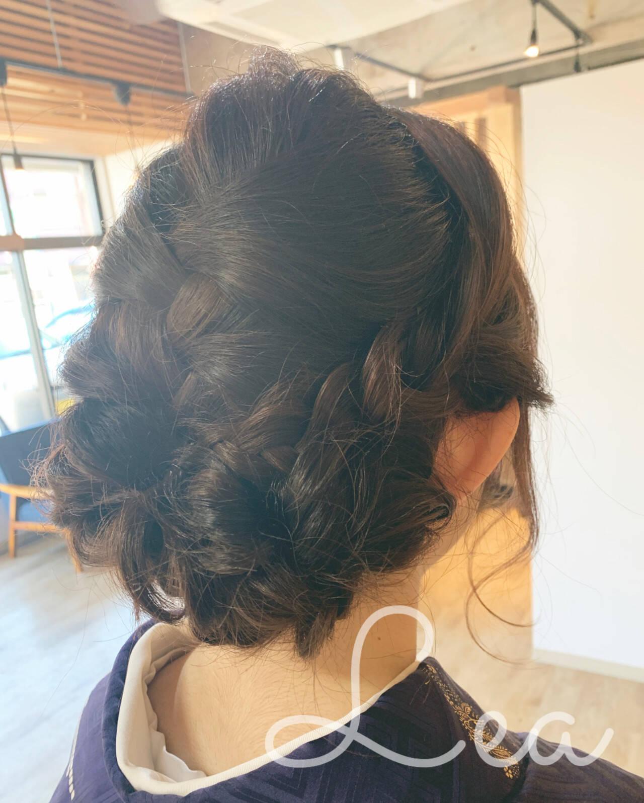 セミロング 和装髪型 和装ヘア 和装ヘアスタイルや髪型の写真・画像