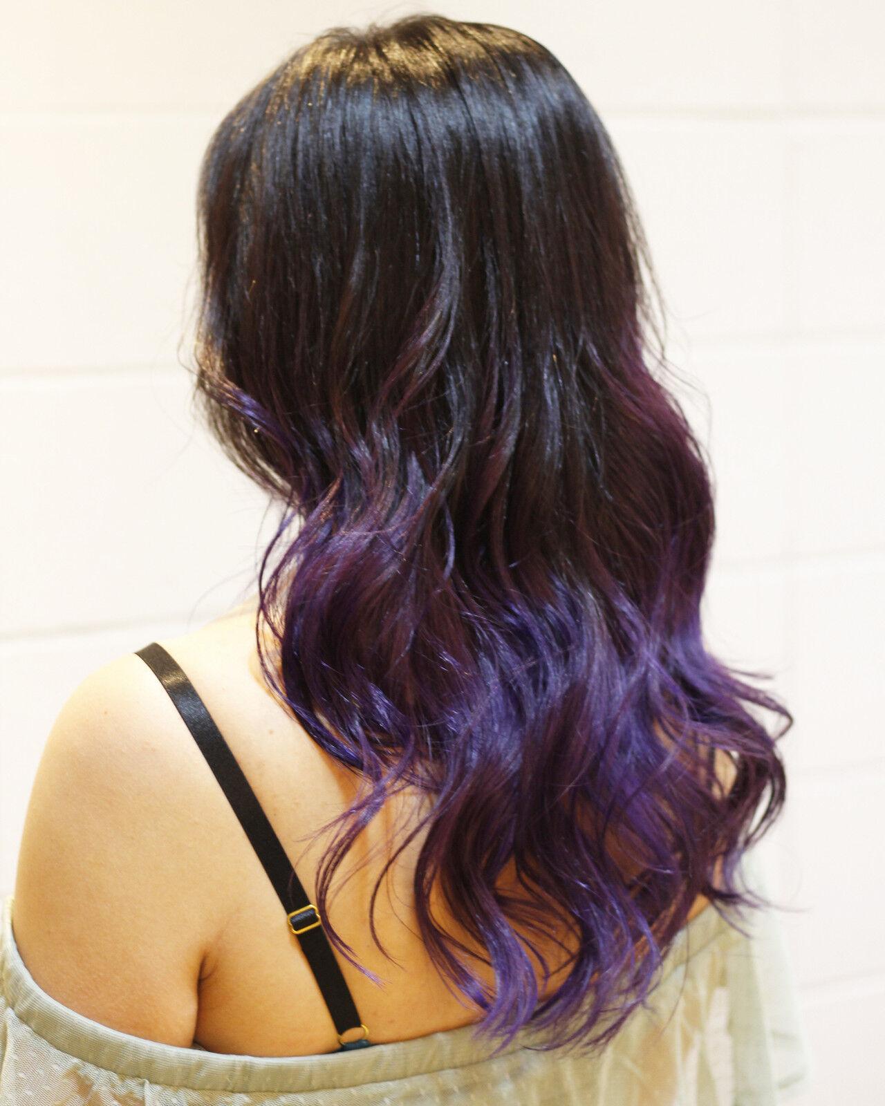 フェミニン グラデーションカラー ロング ブリーチカラーヘアスタイルや髪型の写真・画像