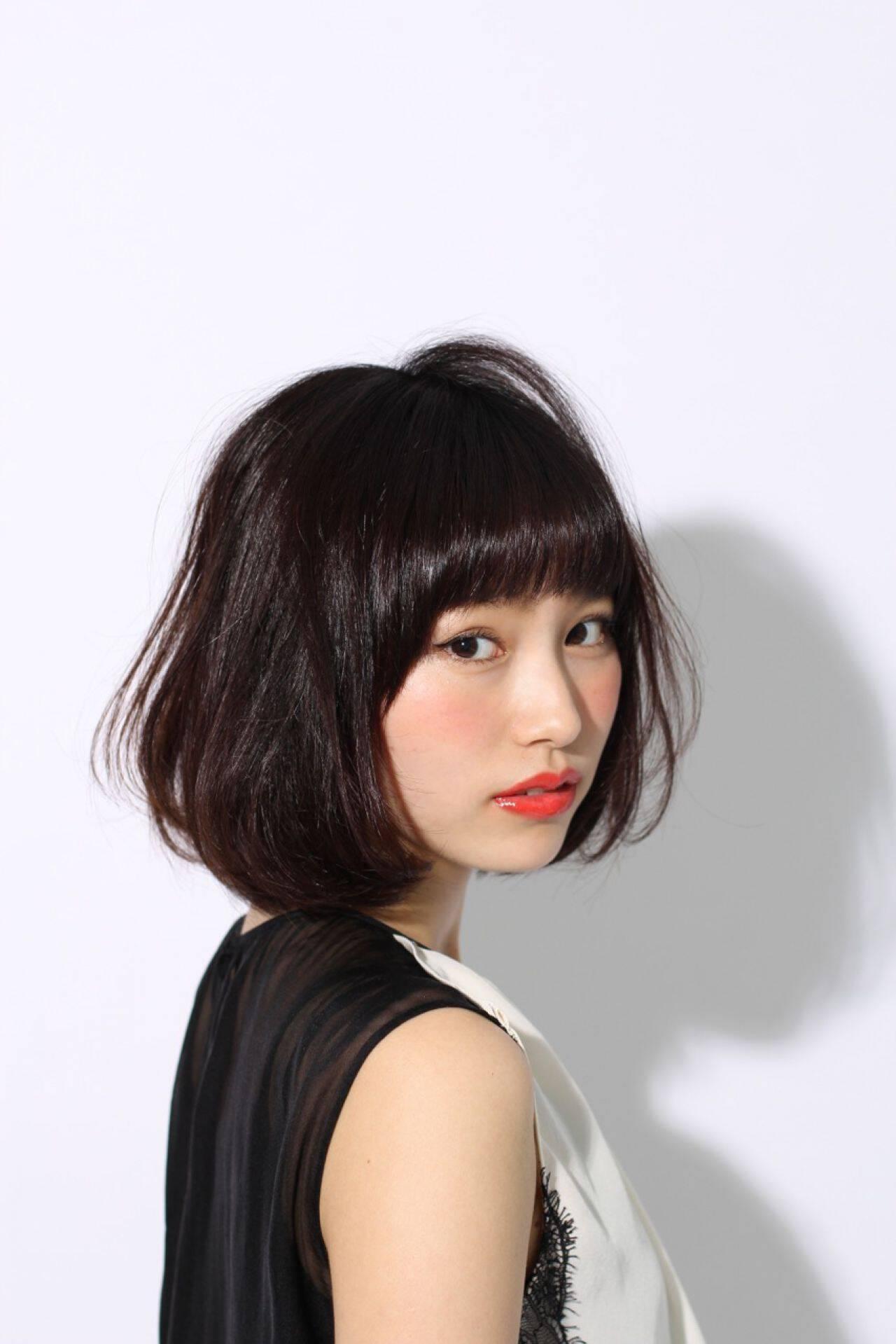 コンサバ 黒髪 清楚 大人かわいいヘアスタイルや髪型の写真・画像