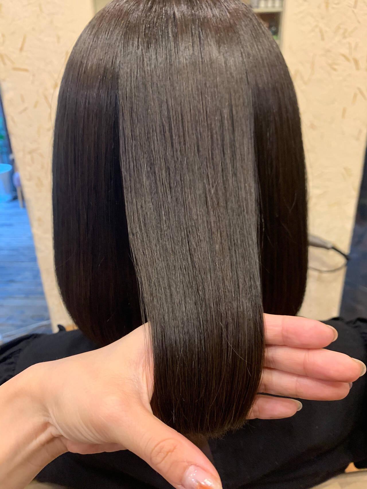 ミディアム 髪質改善 ナチュラル 髪質改善トリートメントヘアスタイルや髪型の写真・画像