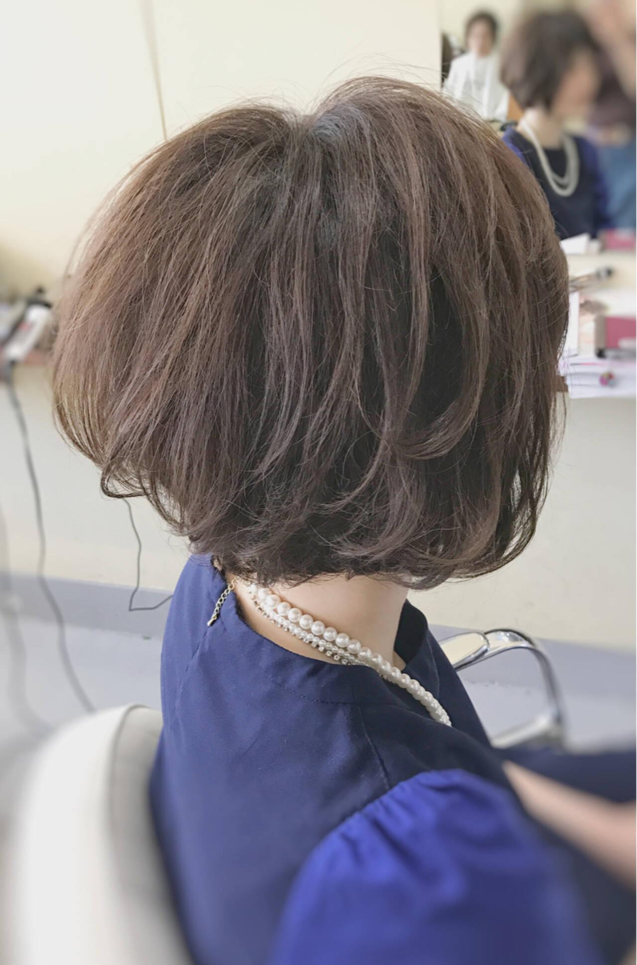 マッシュ こなれ感 ショート ナチュラルヘアスタイルや髪型の写真・画像