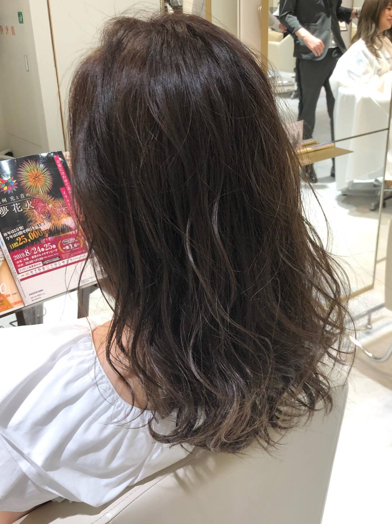 簡単ヘアアレンジ ナチュラル ミディアム 3Dハイライトヘアスタイルや髪型の写真・画像