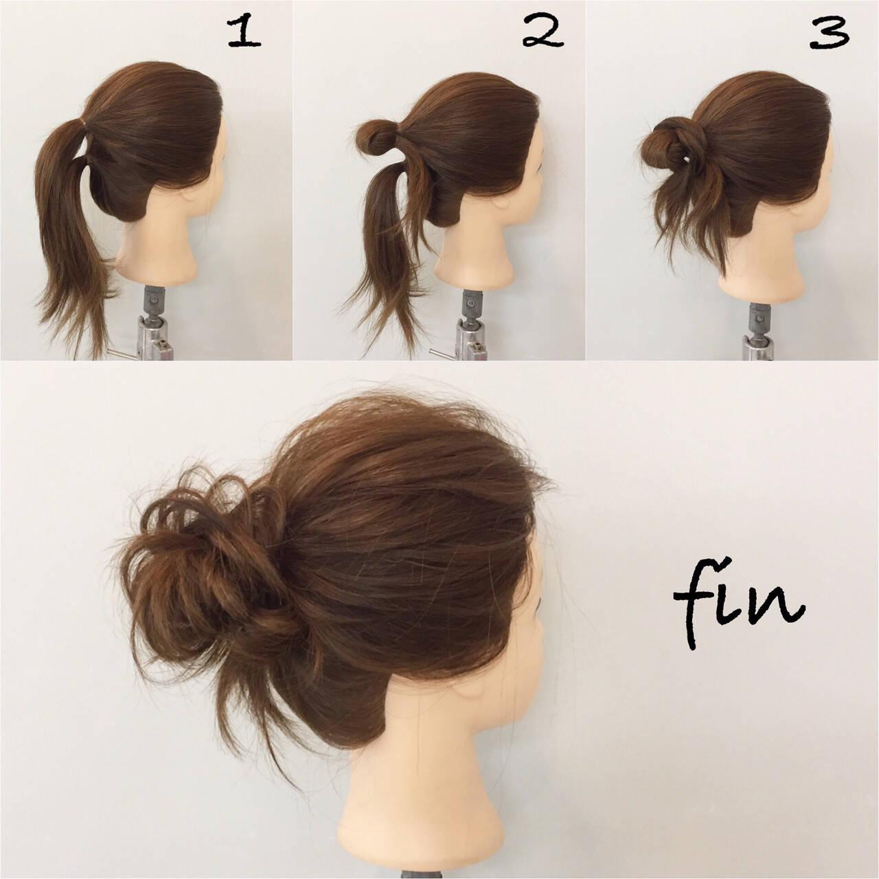 メッシーバン ヘアアレンジ 結婚式 ミディアムヘアスタイルや髪型の写真・画像