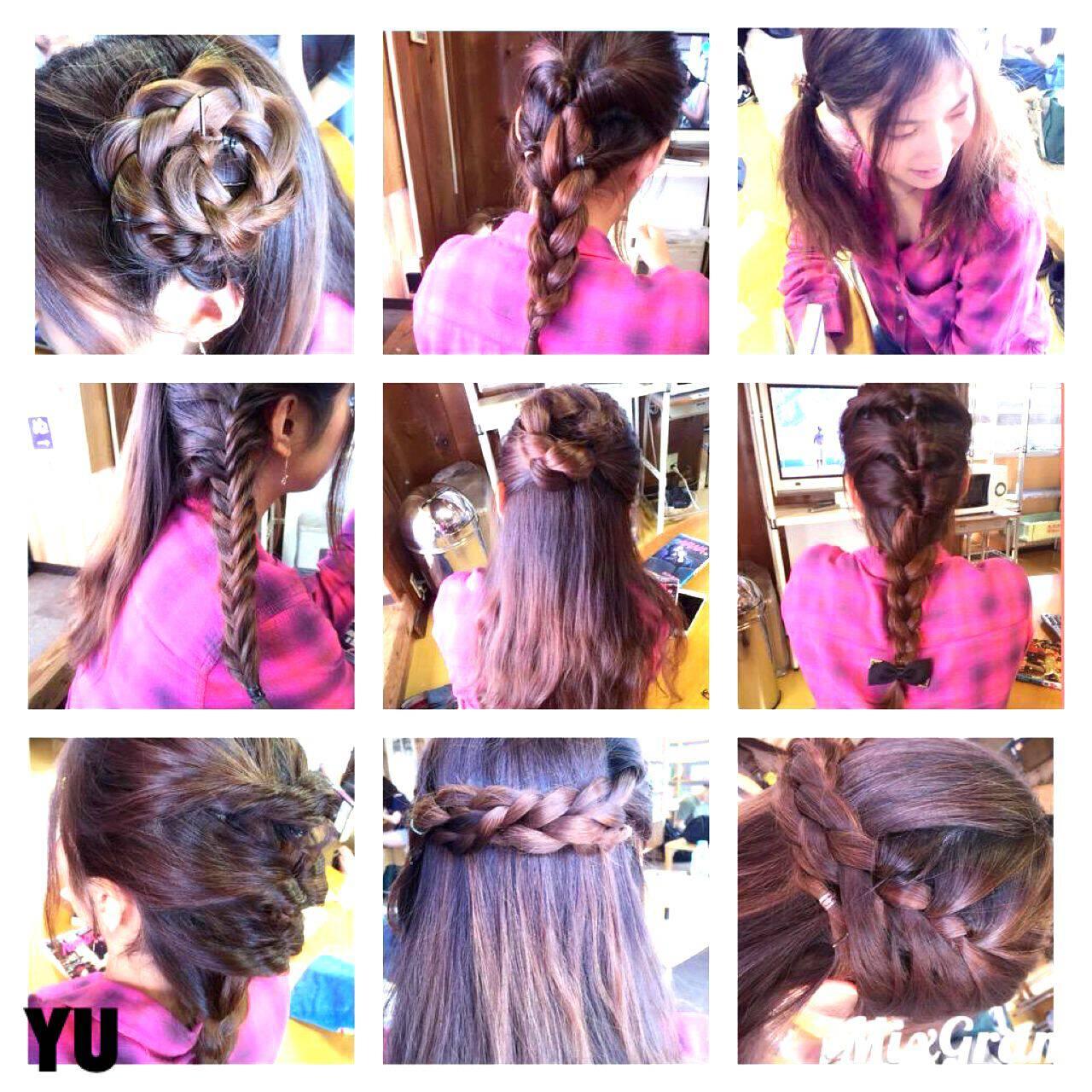 ラフ ロング ゆるふわ 編み込みヘアスタイルや髪型の写真・画像