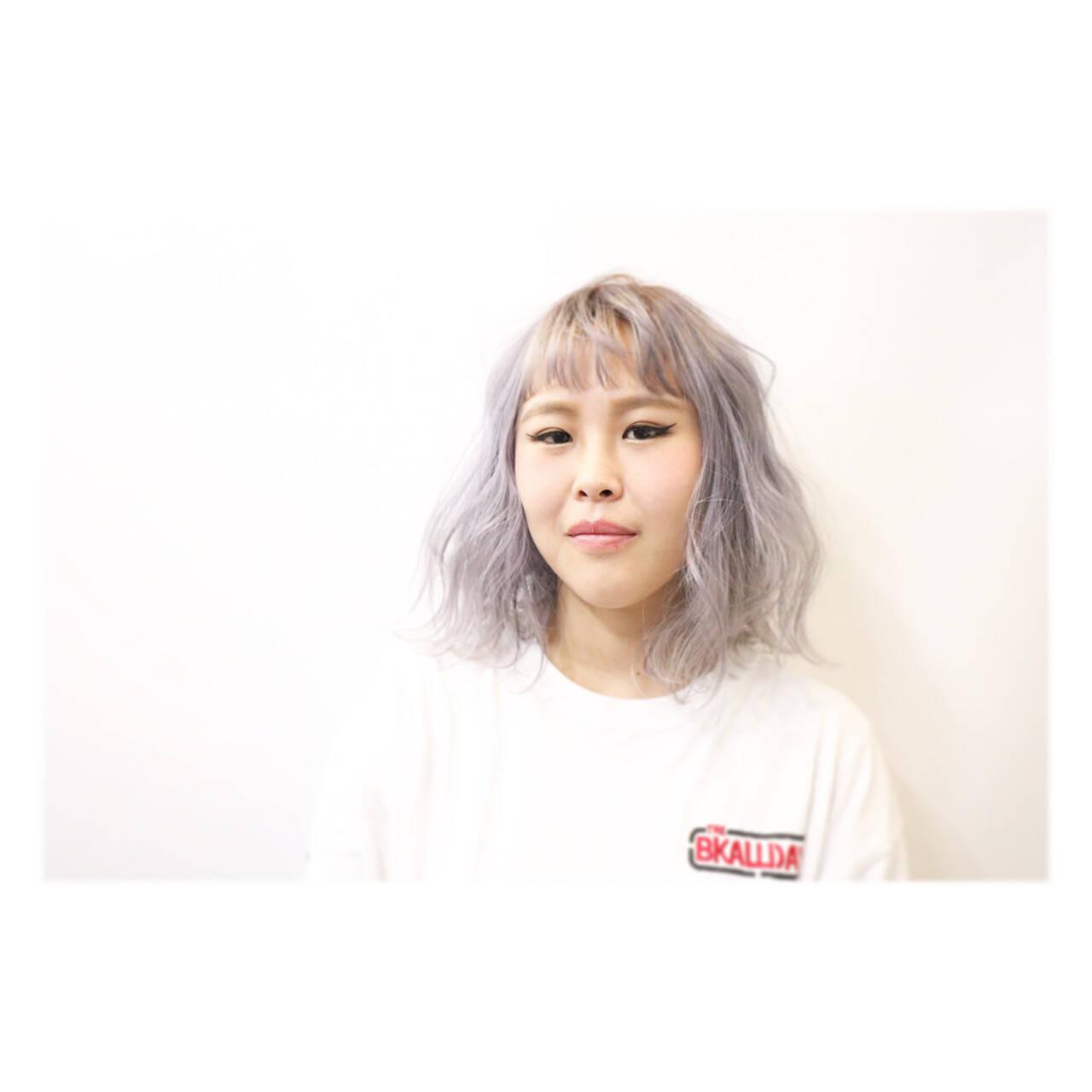 外国人風 グラデーションカラー ハイトーン ストリートヘアスタイルや髪型の写真・画像