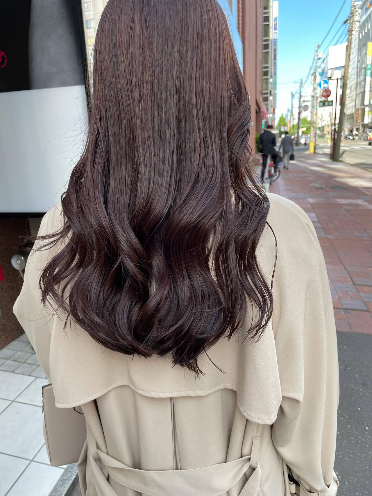 ロング 透明感カラー 韓国 韓国ヘアヘアスタイルや髪型の写真・画像