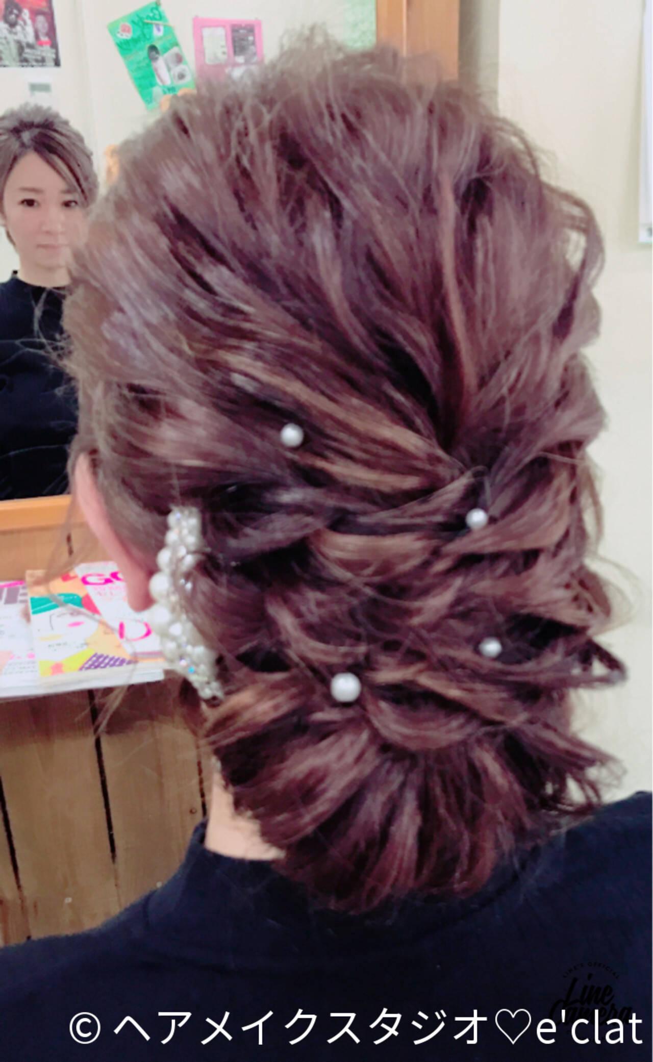 フェミニン ヘアアレンジ シニヨン 大人かわいいヘアスタイルや髪型の写真・画像