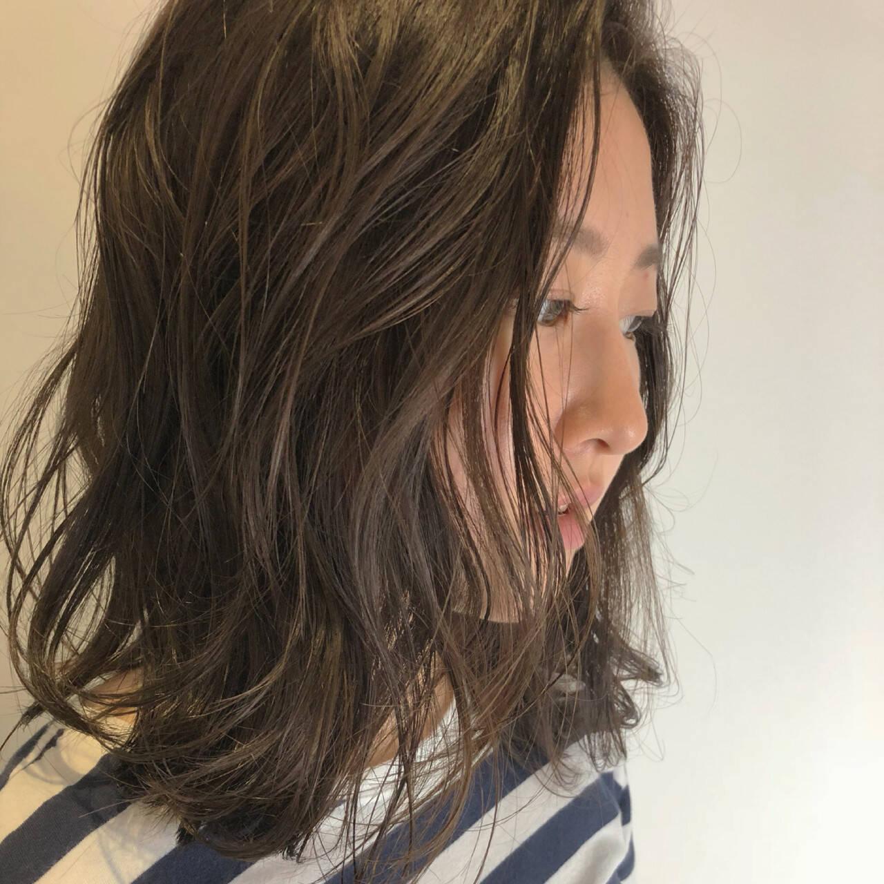 ナチュラル ミディアム ヘアアレンジ ボブヘアスタイルや髪型の写真・画像
