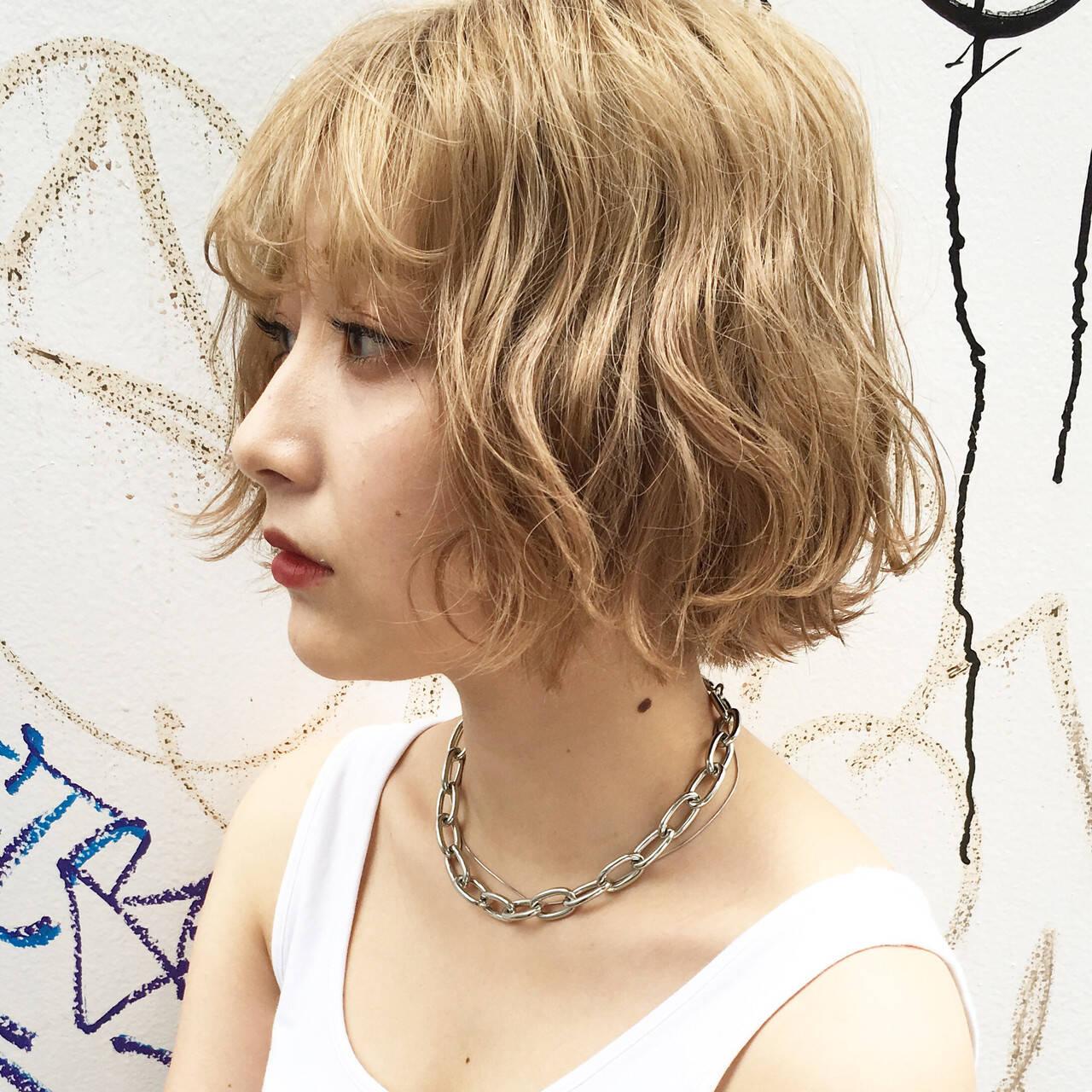 ストリート 外国人風カラー カジュアル ヘアカラーヘアスタイルや髪型の写真・画像