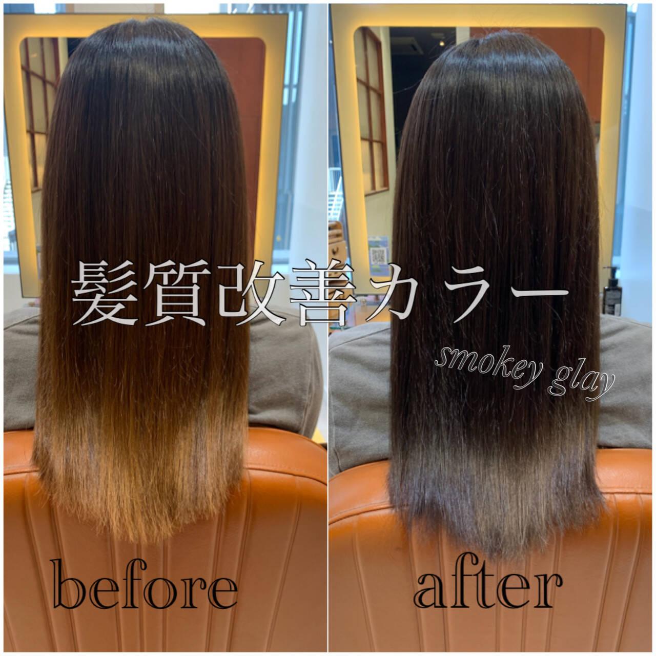髪質改善カラー ナチュラル 髪質改善 大人かわいいヘアスタイルや髪型の写真・画像
