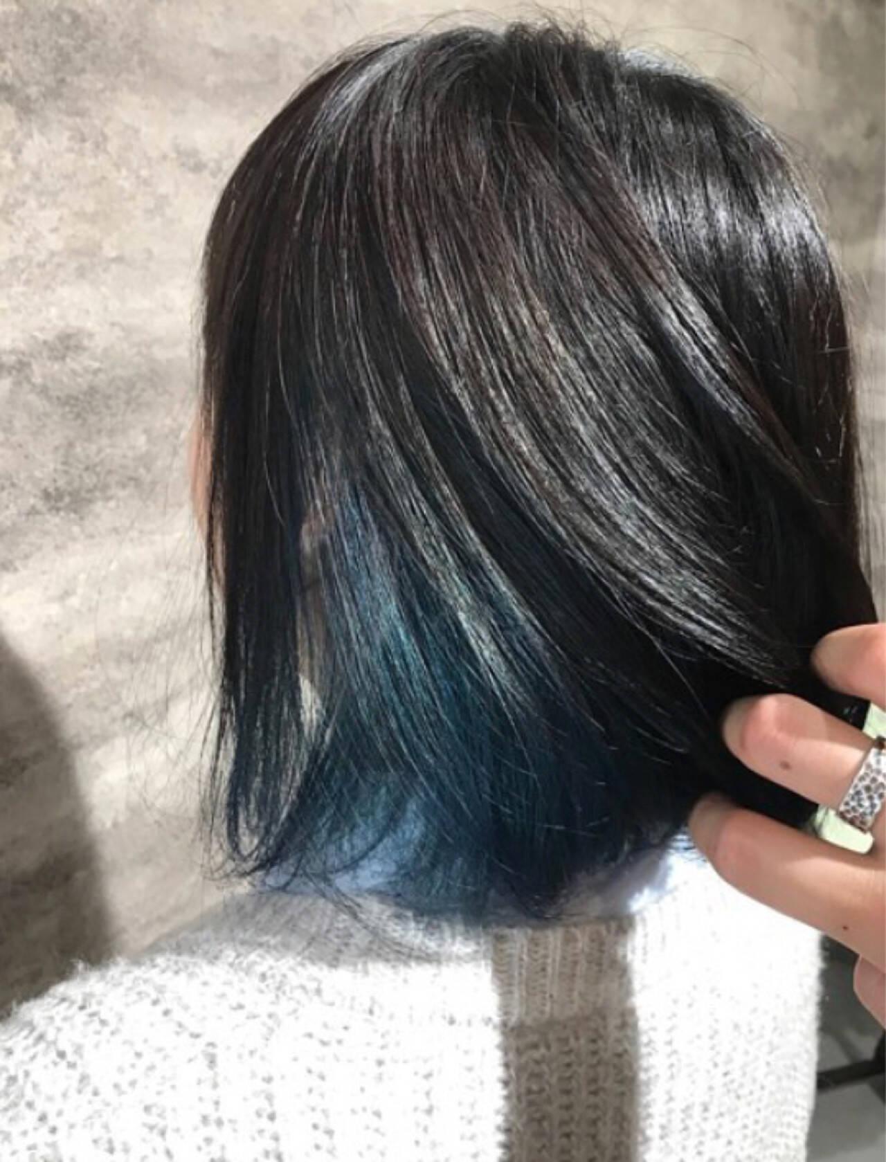 フェミニン ボブ イルミナカラーヘアスタイルや髪型の写真・画像