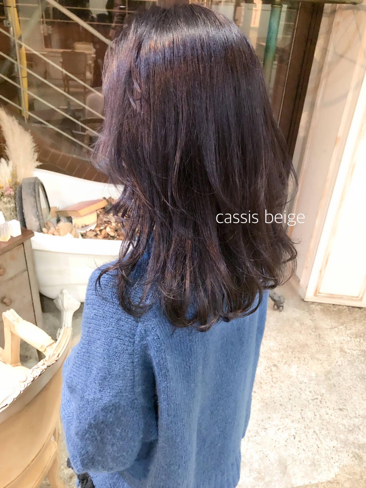 ラベンダーピンク パープルアッシュ パープル ロングヘアスタイルや髪型の写真・画像
