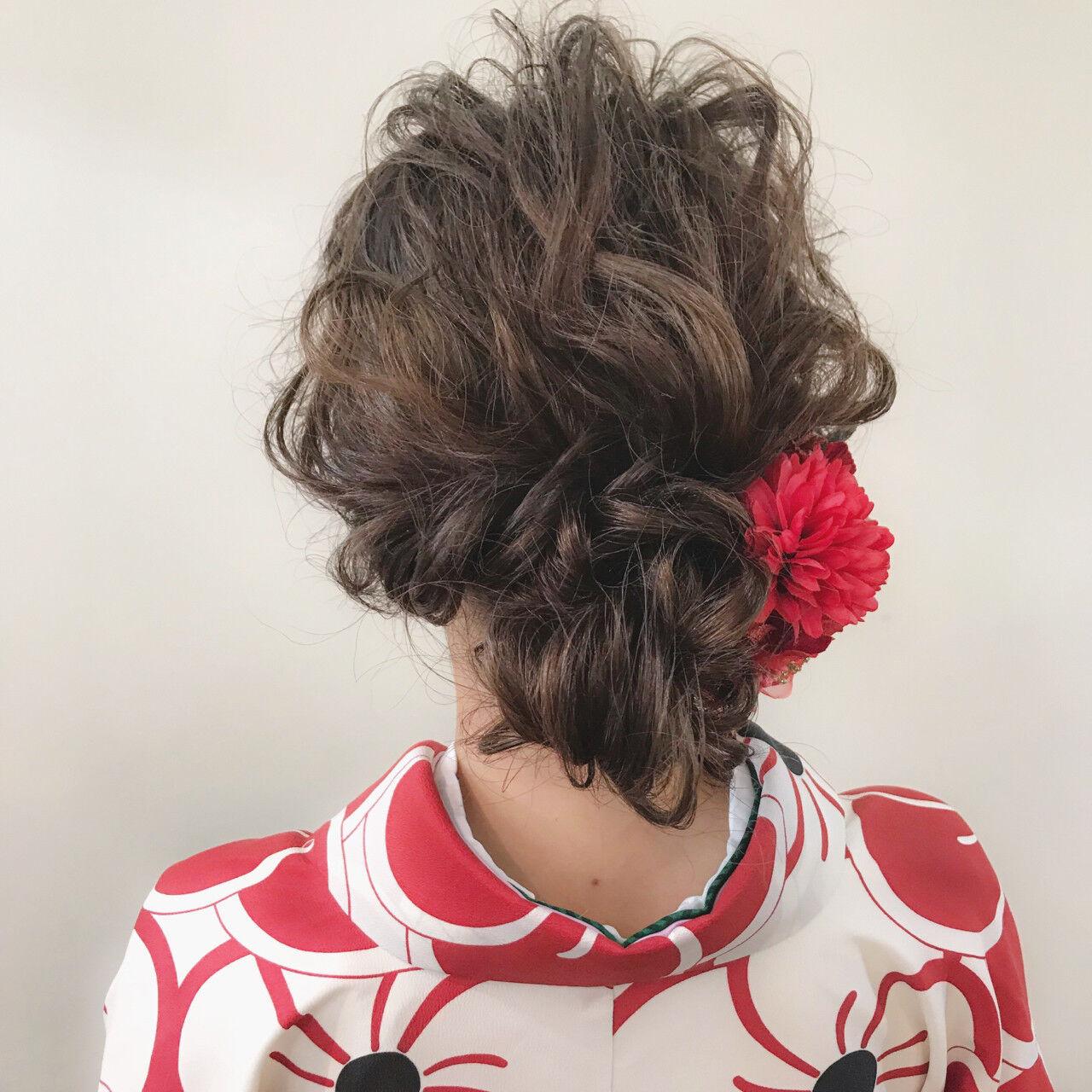 ナチュラル ブリーチ ミディアム 成人式ヘアスタイルや髪型の写真・画像