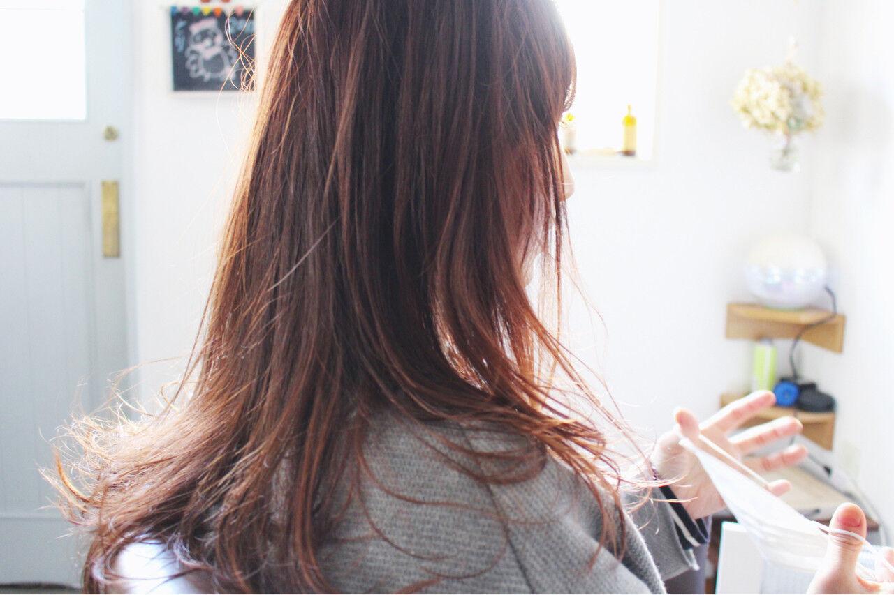小顔 ロング こなれ感 ナチュラルヘアスタイルや髪型の写真・画像